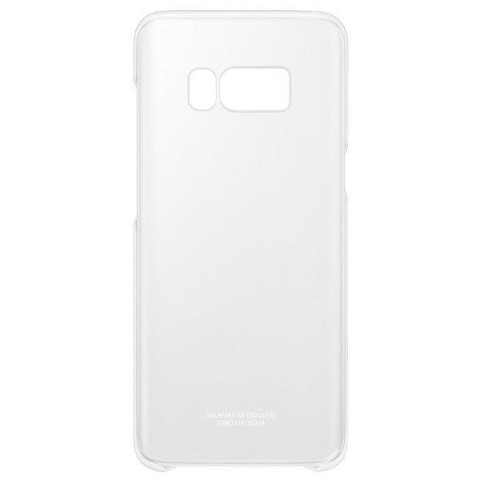 Etui Clear Cover do Galaxy S8+ Srebrne (EF-QG955CSEGWW)