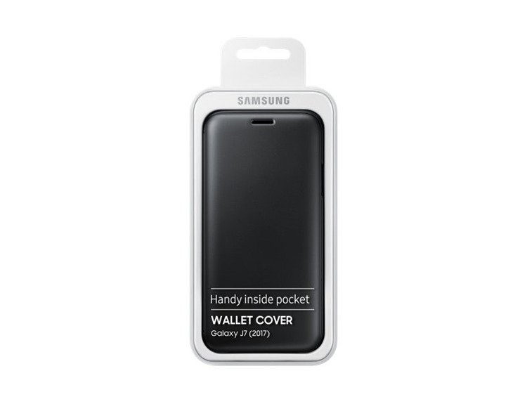 Etui Samsung Wallet Cover Czarne do Galaxy J7 (2017) EF-WJ730CBEGWW