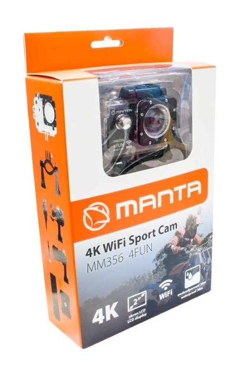 MANTA MM356 4FUN Kamera Sportowa 4K WiFi